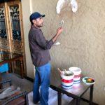 Modern oil painting on canvas artist in dubai UAE
