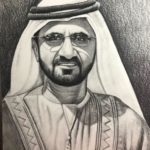 Modern pencil sketch in dubai