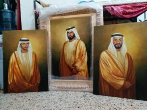 Oil painting on canvas in dubai UAE