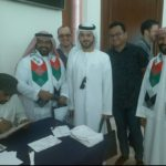 Modern arabic calligrapher and oil painting artist in Dubai UAE