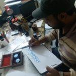 Modern oil painting artist in Dubai UAE