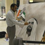 Modern portrait oil painting in Dubai UAE