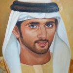 Modern oil painting on canvas of prince in dubai UAE