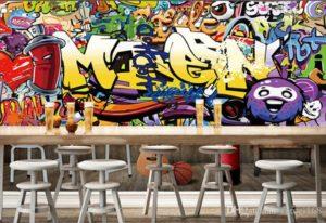 modern graffiti murals art in dubai UAE