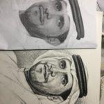 Modern pencil sketch art in Dubai UAE